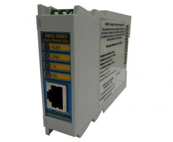 RÁDIO MODEM RMSS-900V2 SPREAD SPECTRUM 900MHZ
