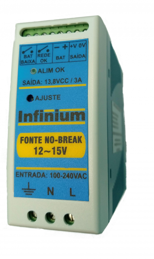 FONTE NO-BREAK - 12 e 24V
